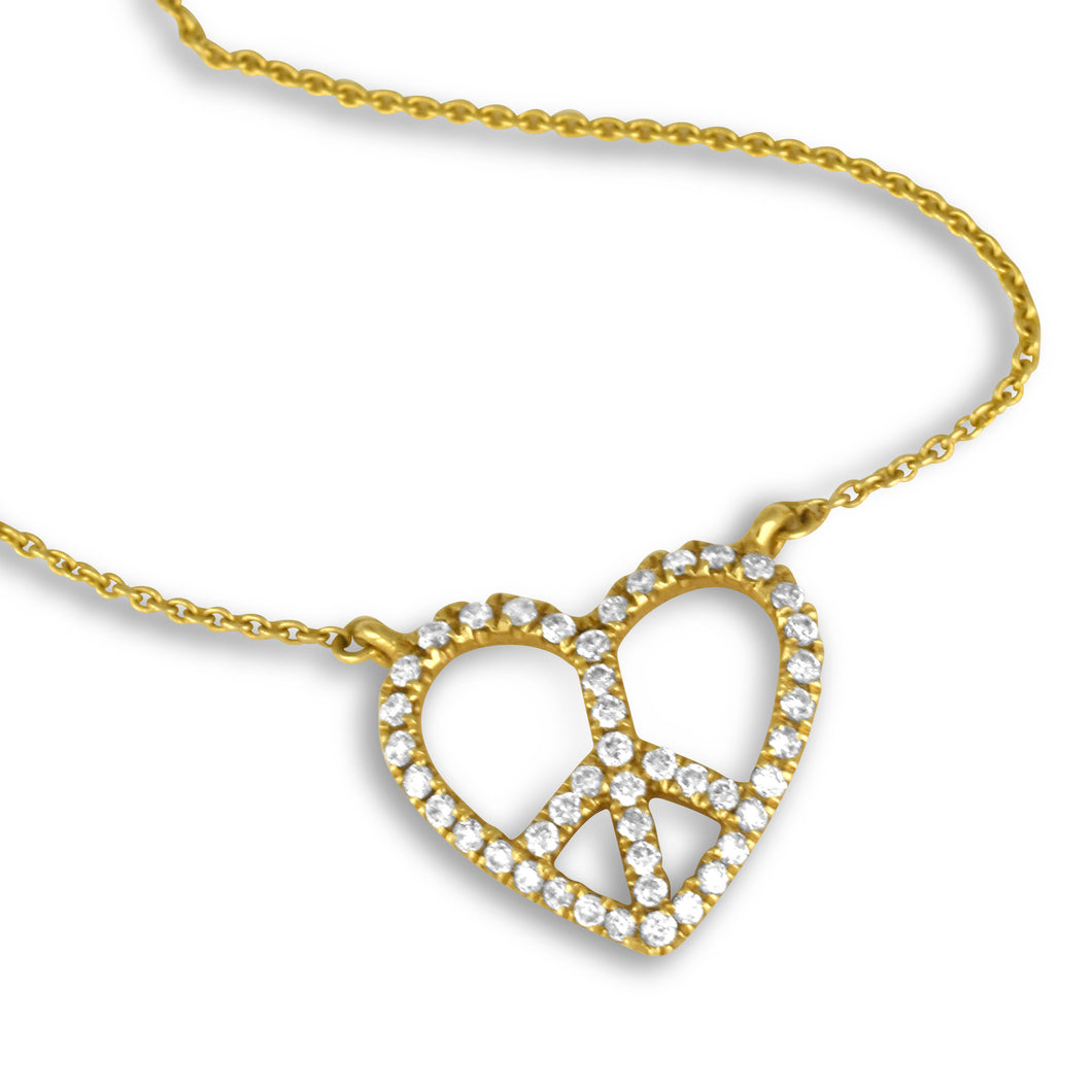 Love and Peace Diamond Necklace - Necklace