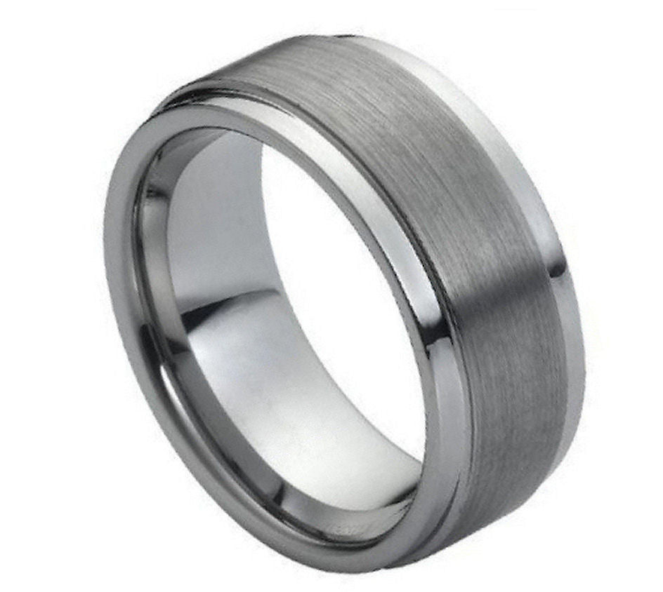 Matte Center Tungsten Ring - Rings
