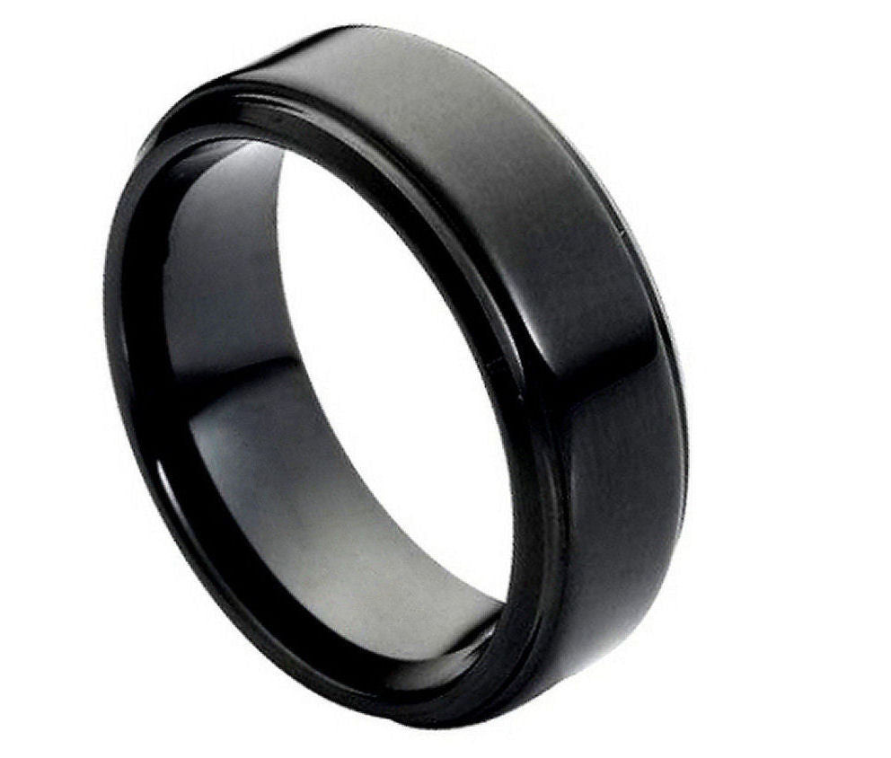 Classic Black Tungsten Ring - Rings
