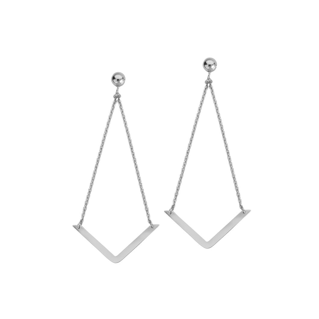 V Dangle Earrings - Earrings