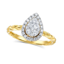 Eva Pear Diamond Ring - Rings