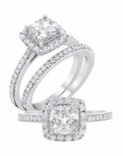 Square Halo Diamond Ring - Rings