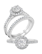 Round Halo Engagement Ring - Rings