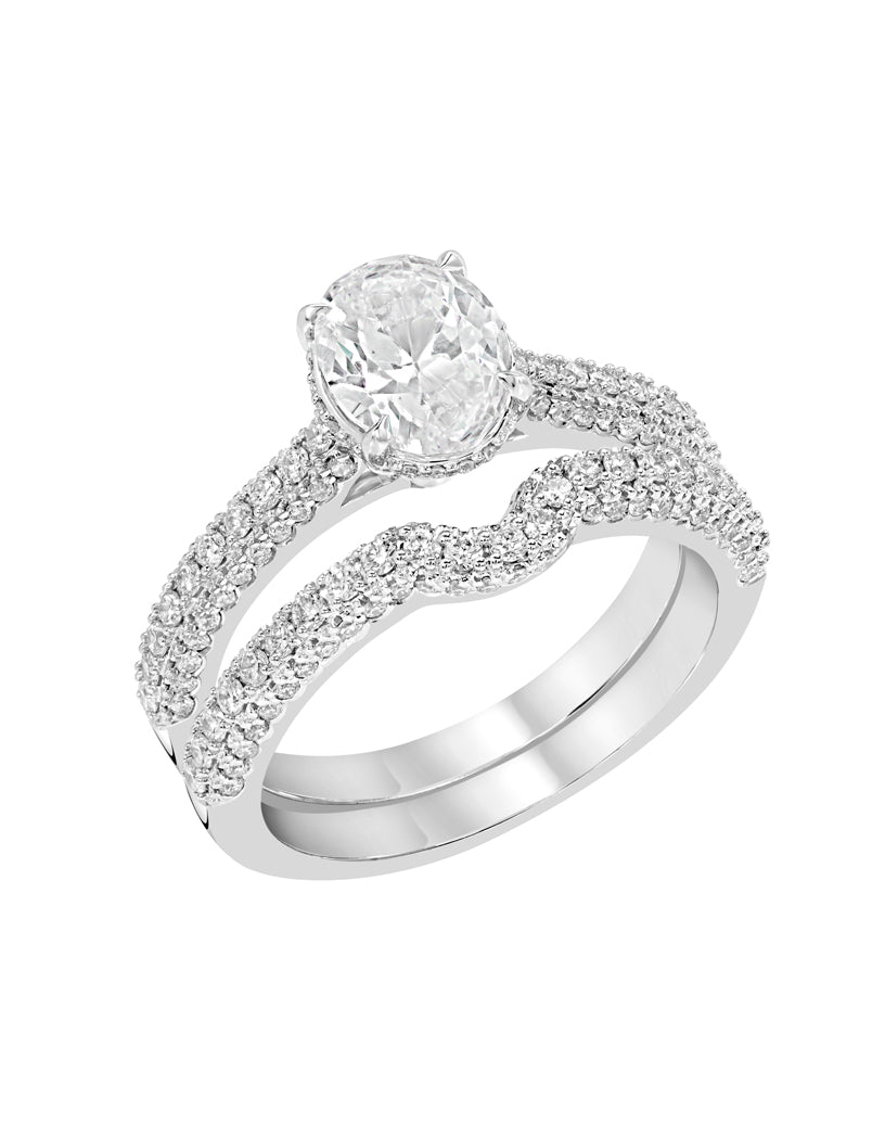 Oval Solitaire Diamond Ring - Rings