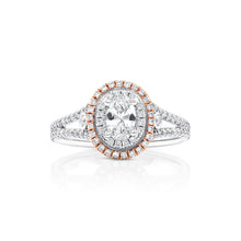Oval Halo Pink Diamond Engagement Ring - Rings