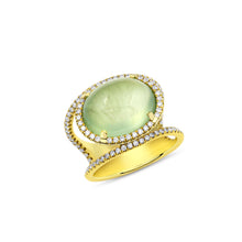 Green Bubble Diamond Ring - Ring