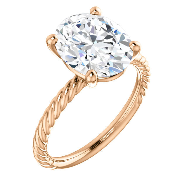 Rope Solitaire Engagement Ring - Rings