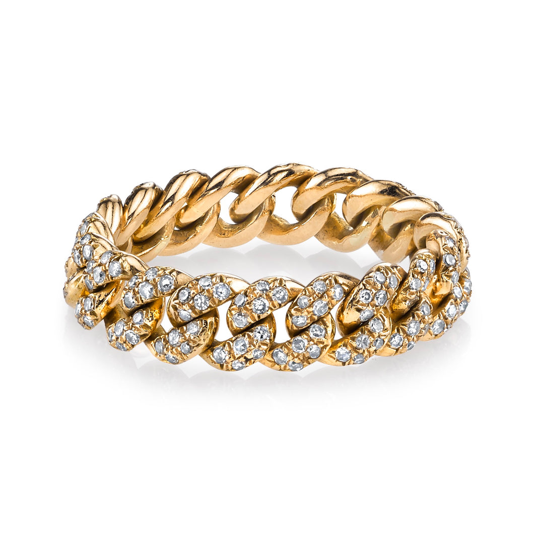 Diamond Cuban Link Ring - Rings