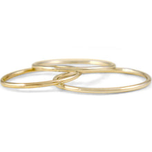 Set of 3 Thin Yellow Gold Rings - Rings
