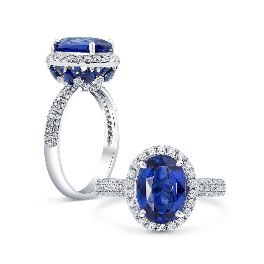 Blue Sapphire Engagement Ring | Princess Diana Inspired by The Jewel Princess - Rings
