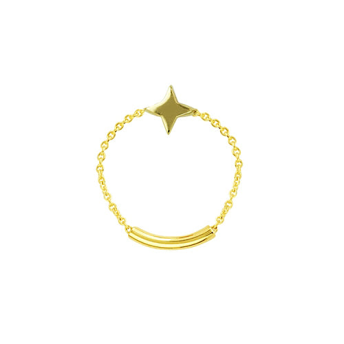 Star Chain Ring - Rings
