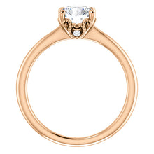 Rose Gold Round Forever One DEF Moissanite Ring - Engagement Rings
