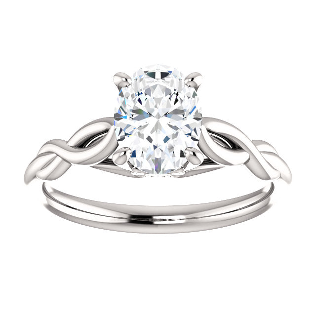Oval Diamond Infinity Solitaire Ring - Engagement Rings