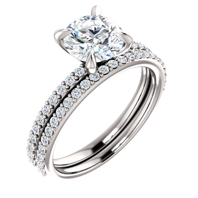 Cecelie Solitaire Diamond Wedding Set - Rings