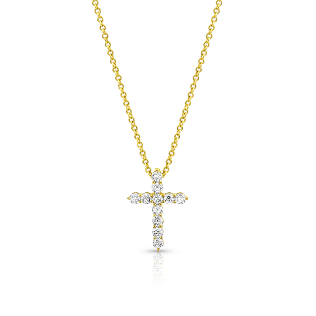 Rosemary Diamond Cross Necklace - Necklace