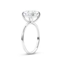 2.30 Carat Princess Solitaire Moissanite Ring - Rings
