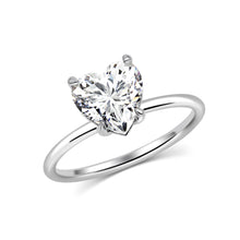 Heart Solitaire Moissanite Ring - Rings