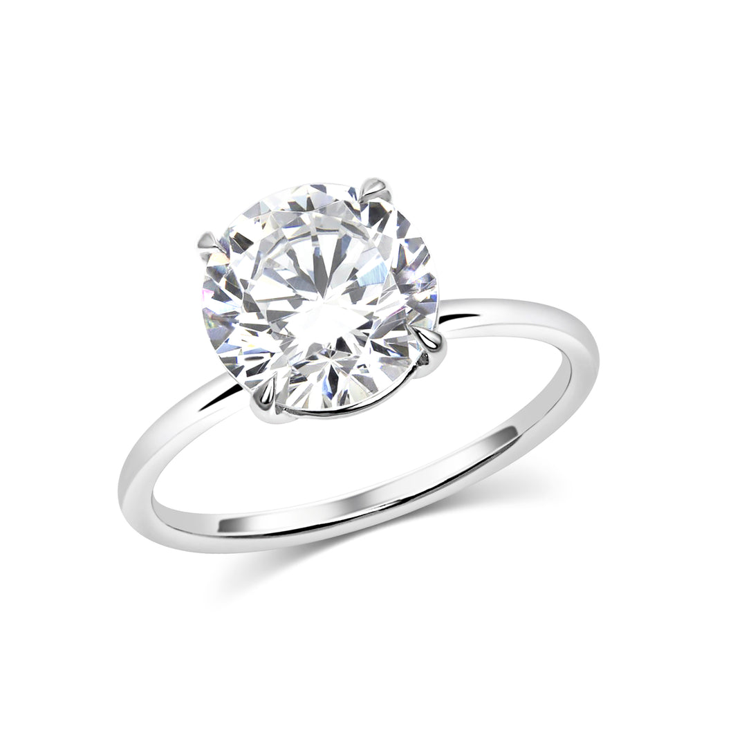 4 Prong Round Solitaire Engagement Ring - Rings