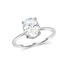 2.50 Carat Oval Solitaire Moissanite Ring - Rings