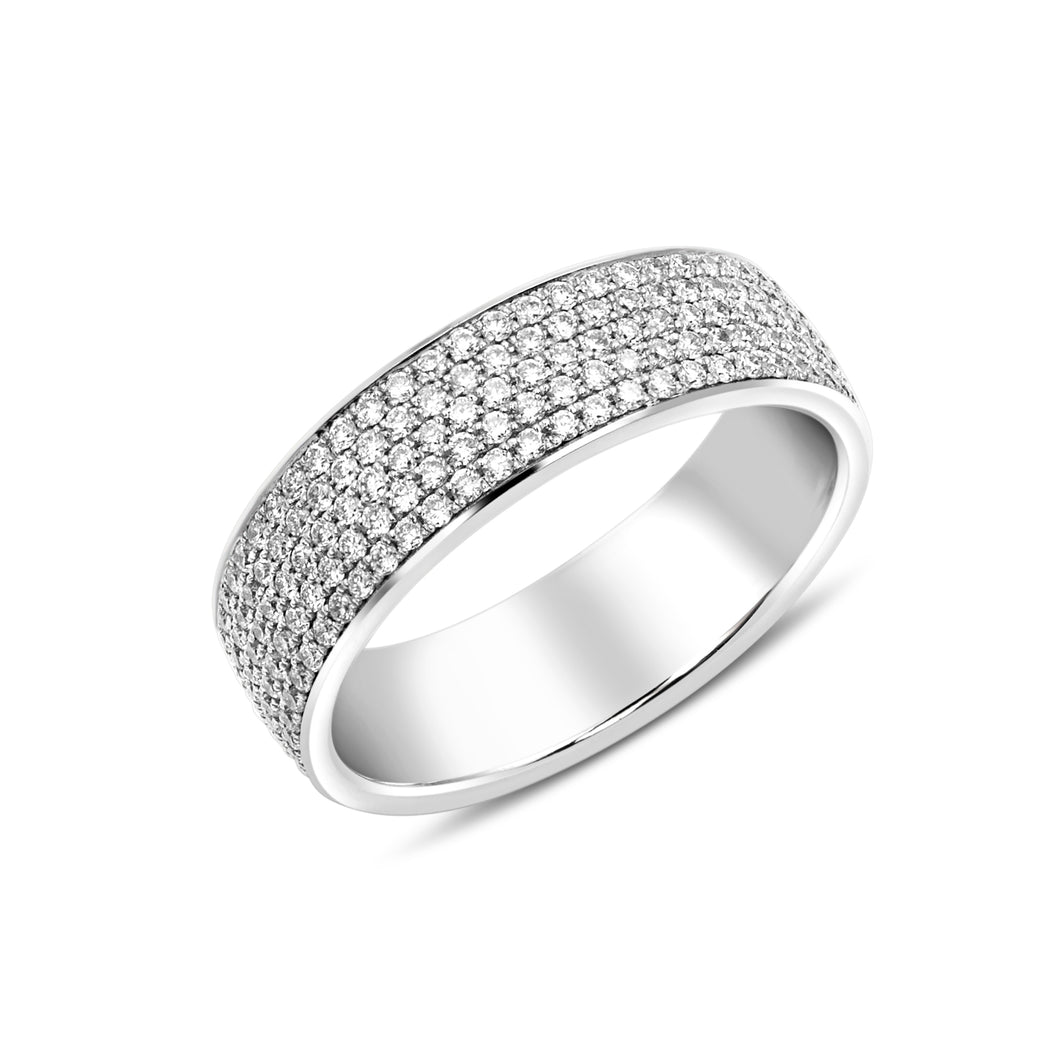 Pave Diamond Eternity Ring - Rings