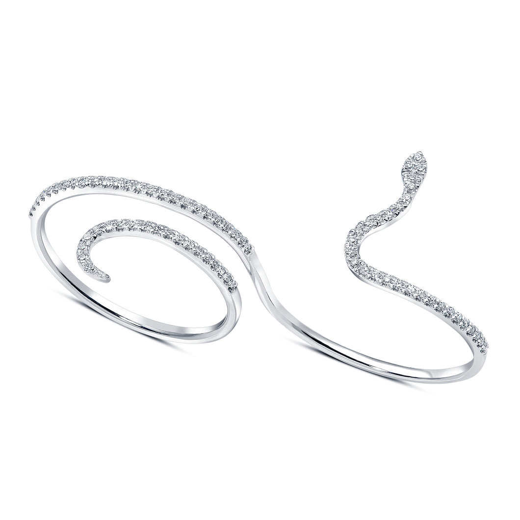 Isabel Double Finger Snake Ring - Rings