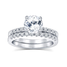 White Sapphire Engagement Ring - Rings