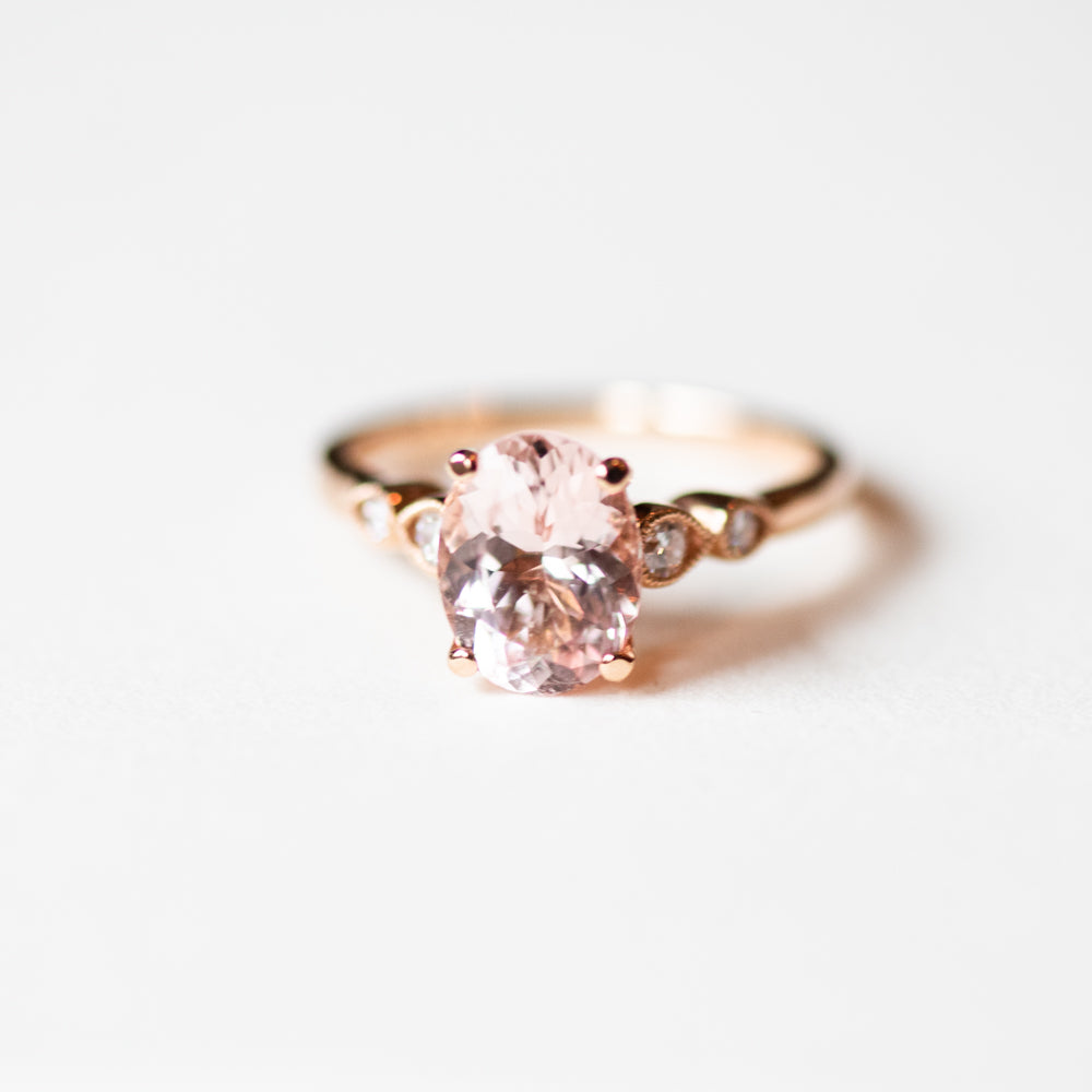 Claire Rose Gold Morganite Ring - Engagement Rings