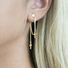 Double Cross Dangling Earrings - Earrings