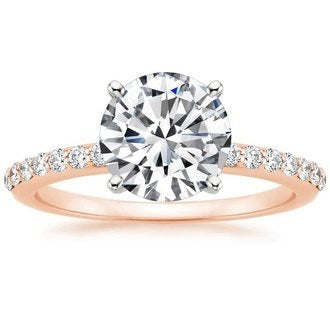 Diamond and Moissanite Engagement Ring - Rings