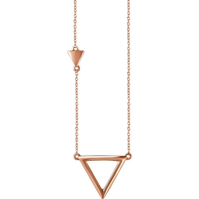 Three Makes a Tribe Triangle Necklace - Necklace