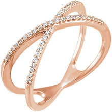 Dainty X Criss Cross Ring - Rings