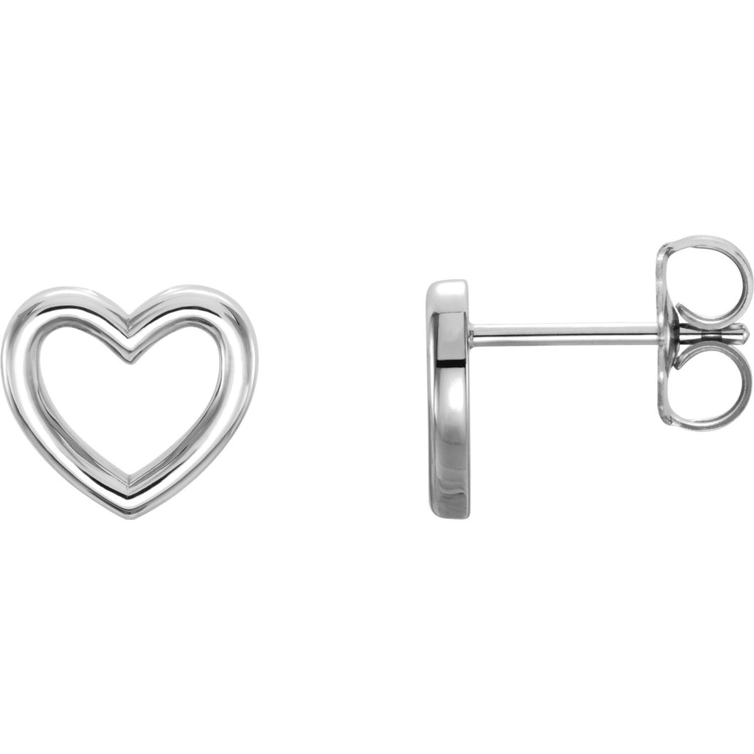Simple Love Heart Earrings - Earrings