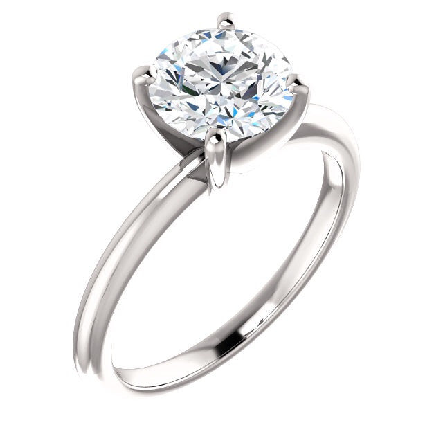 Classic 1 Carat Diamond Solitaire with Four Prongs - Engagement Rings