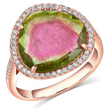 Kiki Rose Gold Watermelon Tourmaline Ring - Rings