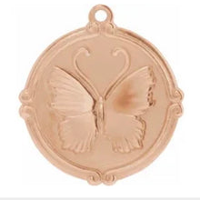 Butterfly Medallion Necklace - Necklace