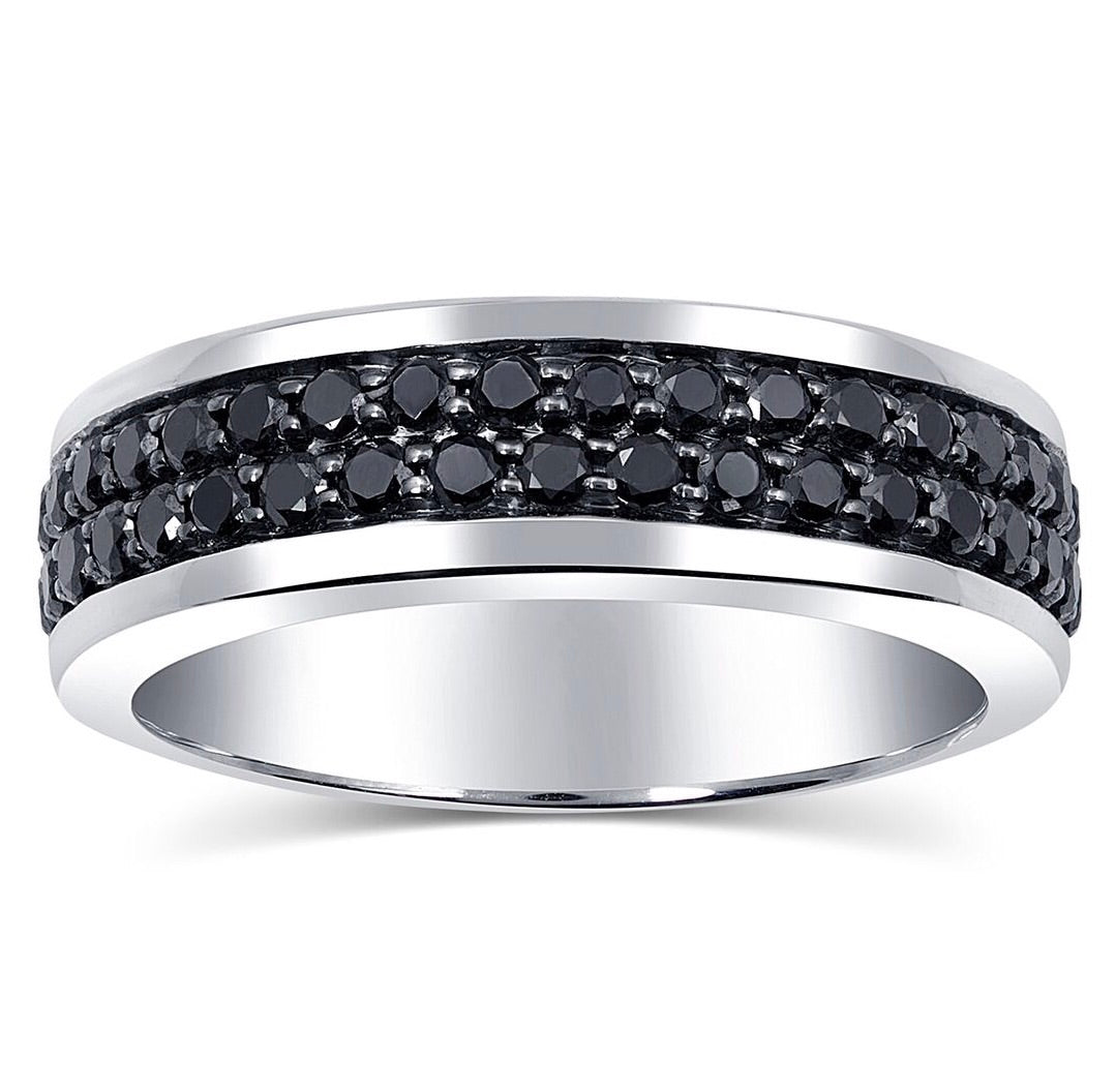 eternity diamond bands knife band edge black