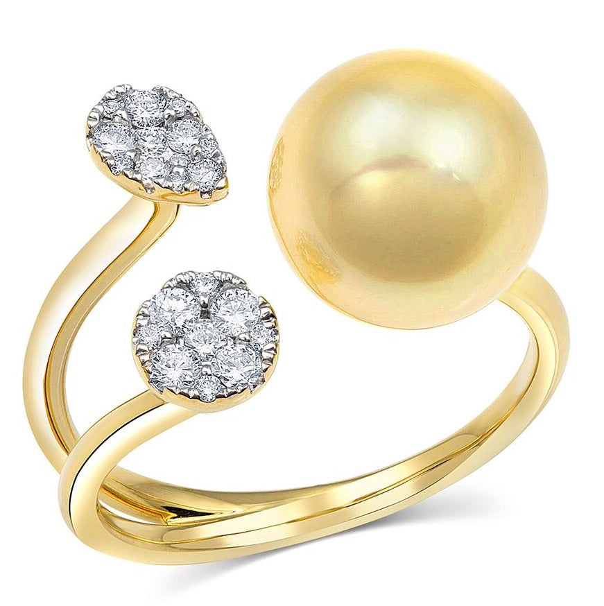 Tiana Pearl & Diamond Ring - Rings