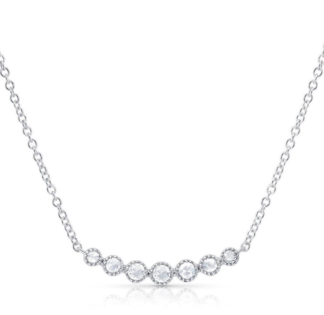 Jennifer Rose Cut Diamond Necklace - Necklace