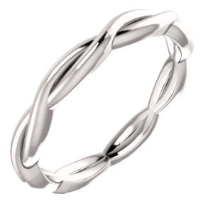 Infinity Twist Gold Ring -