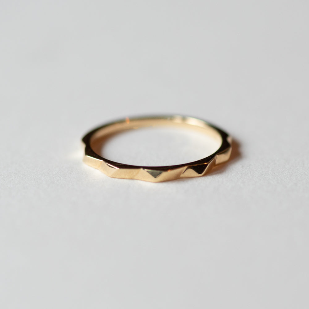 Gold Geometric Ring - Rings
