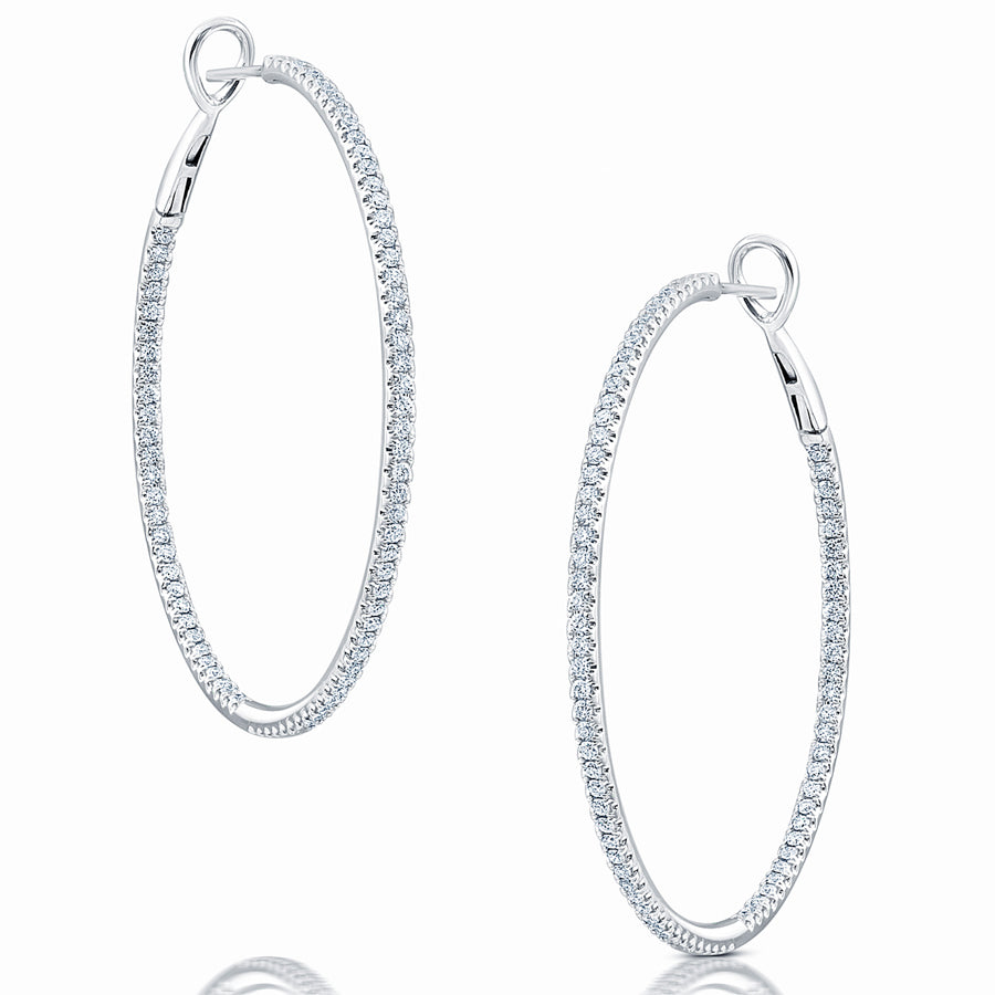 Diamond Hoop Earrings - Earrings