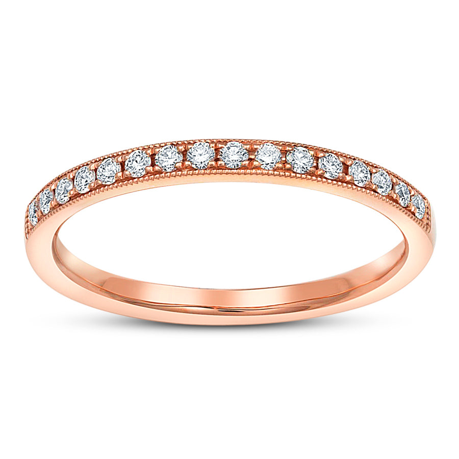 Rose Gold Milgrain Wedding Ring - Ring