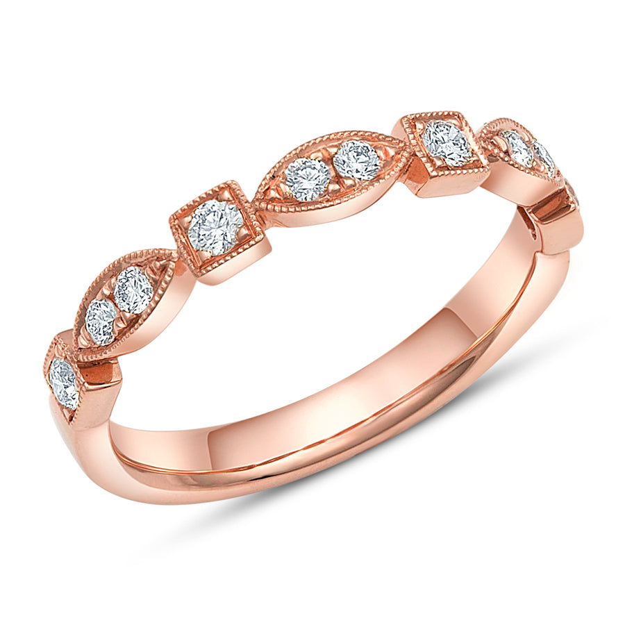 Rose Gold Art Deco Ring - Rings