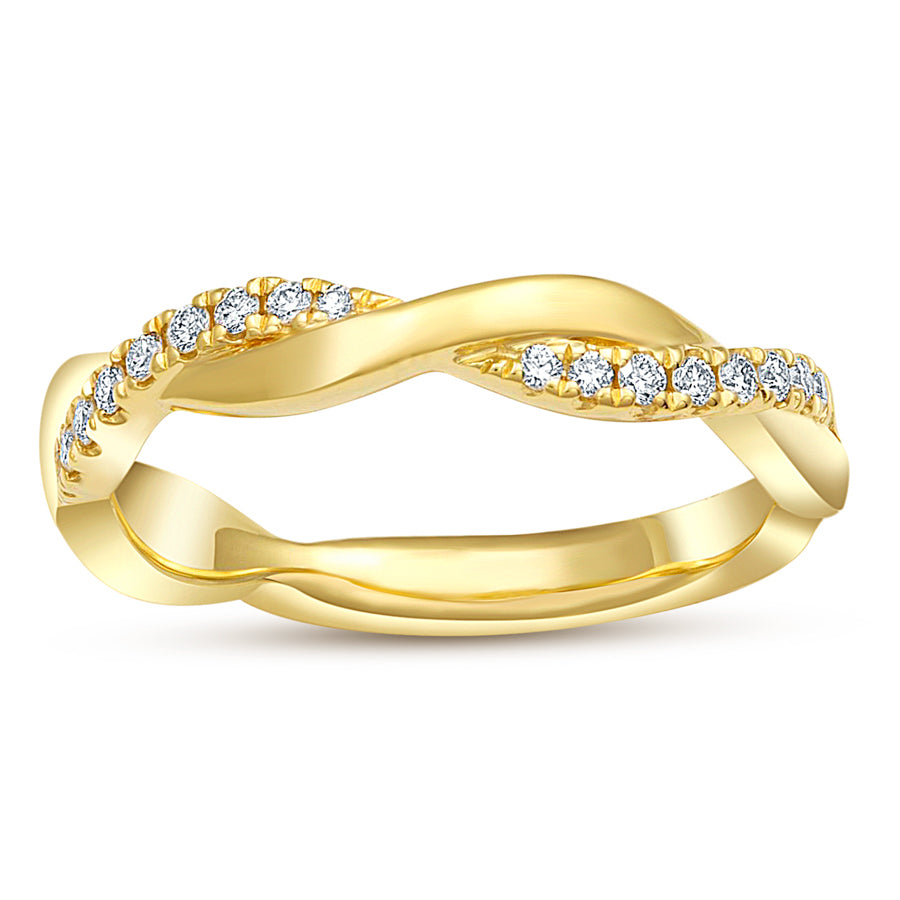 Twist Diamond Ring - Ring