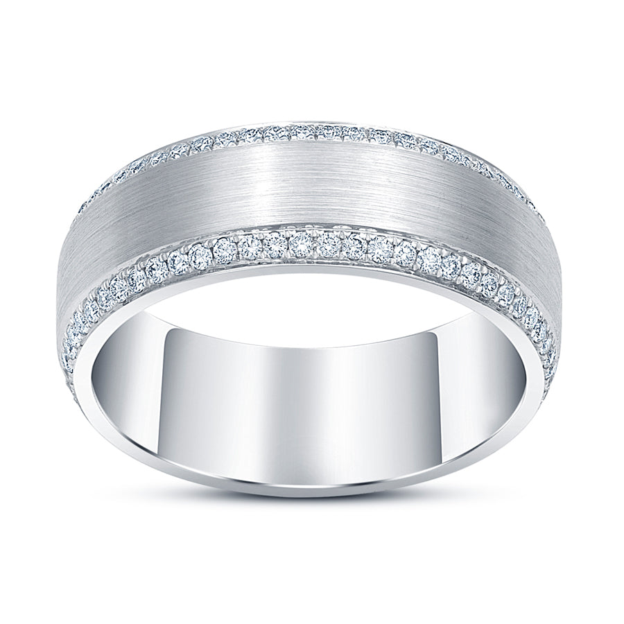 Beveled Edge Diamond Ring - Rings