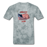 BREXIT 1776 Cotton Tee - grey tie dye