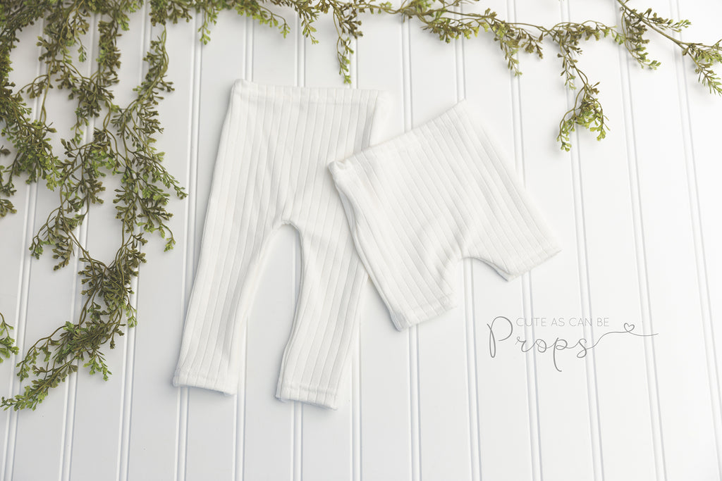 ivory super soft newborn pants or shorts