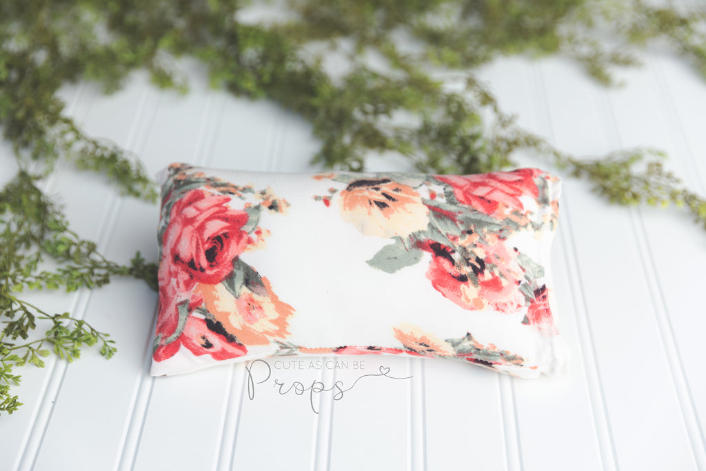 peach floral newborn pillowcase