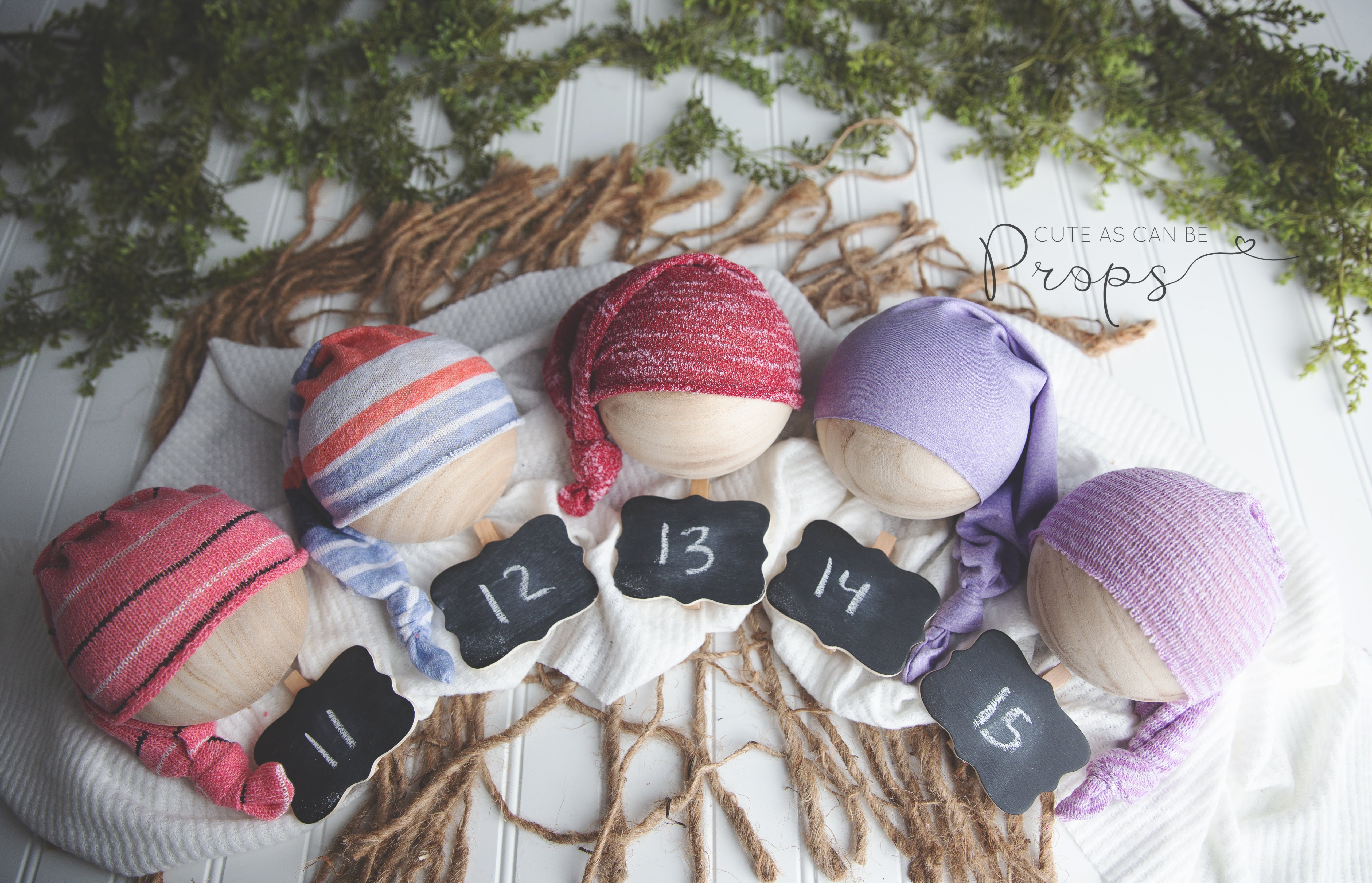 Newborn Girls sleepy hats