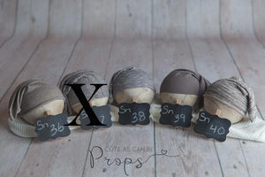 Neutral newborn slouchy hats